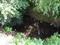 Kyjovka v Koryčanech velkým průtokem nevyniká.