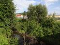 Kyjovka nad silničním mostem ve směru z Koryčan na Blišice.