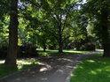 Park v Kyjově se nachází na levém břehu Kyjovky.