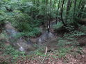 Nádherně se kroutící meandr Kyjovky uvnitř chráněného území Stará Hráz.
